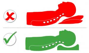 Schlafposition Rückenschläfer: falsch und korrekt